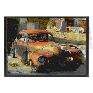 Rusty Old Car in Nevada Birthday for a man Card