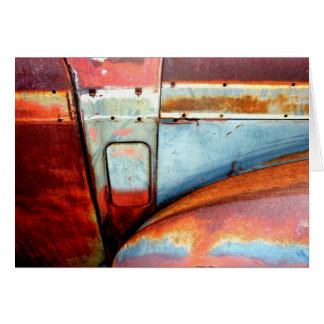 Rusty Old Car Stationery Note Card