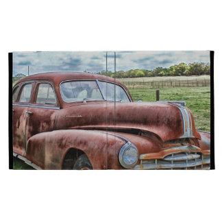 Rusty Old Classic Car Vintage Automobile iPad Folio Cover