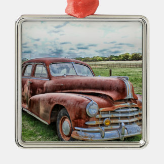 Rusty Old Classic Car Vintage Automobile Christmas Tree Ornament