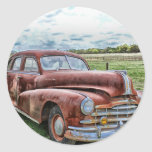 Rusty Old Classic Car Vintage Automobile Stickers