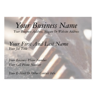 Rusty Old Cog Wheel Large Business Card