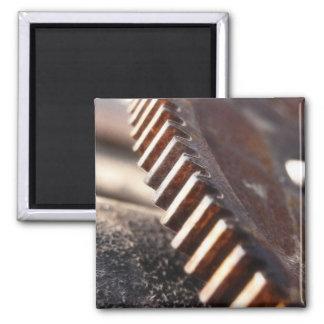 Rusty Old Cog Wheel Magnet