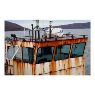 Rusty Old Fishing Boat Poster