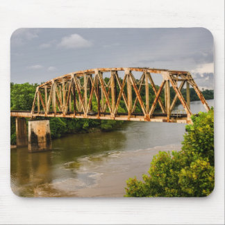 Rusty Old Railroad Bridge - Chattahoochee River Mouse Pad