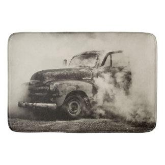 Rusty Old Truck Burnout Bath Mat