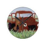 Rusty Old Truck Clock