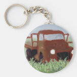 Rusty Old Truck Key Chains