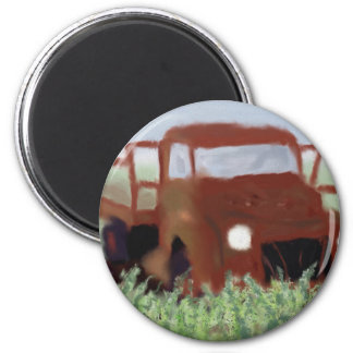 Rusty Old Truck Magnet