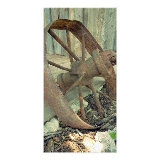 Rusty Old Wheel Card