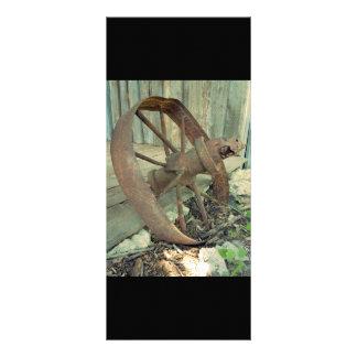 Rusty Old Wheel Rack Card