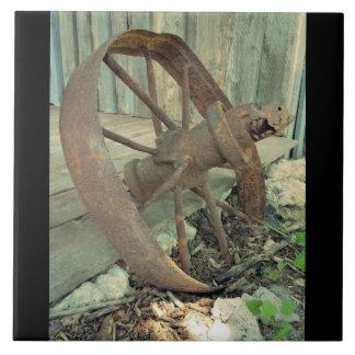 Rusty Old Wheel Tiles