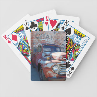 Rusty Ole Truck Bicycle Poker Cards