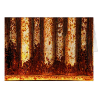 Rusty Orange Flames Card
