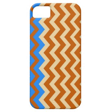 Aztec Themed Rusty Orange Zigzags With Blue iPhone SE/5/5s Case