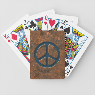 Rusty Peace Sign Bicycle Playing Cards