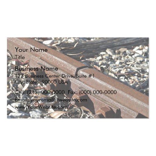 Rusty rails Double-Sided standard business cards (Pack of 100)