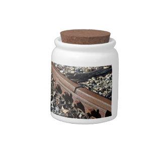 Rusty rails candy jar