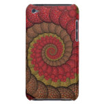 Rusty Red and Orange Peacock Fractal iPod Touch Cover