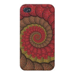 Rusty Red and Orange Peacock Fractal iPhone 4/4S Cover