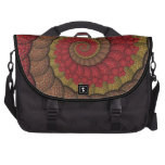 Rusty Red and Orange Peacock Fractal Laptop Bag
