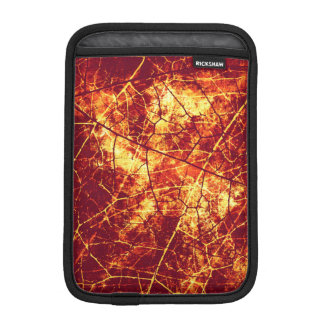 Rusty Red Crackled Lacquer Grunge Texture Pattern iPad Mini Sleeve