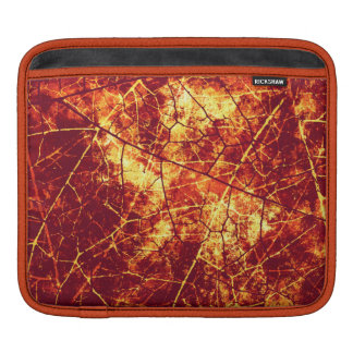 Rusty Red Crackled Lacquer Grunge Texture Pattern iPad Sleeve