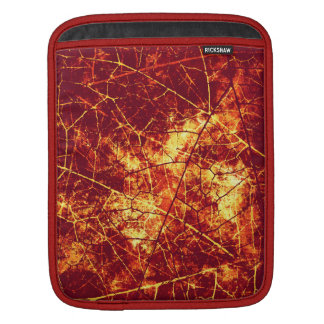 Rusty Red Crackled Lacquer Grunge Texture Pattern Sleeve For iPads