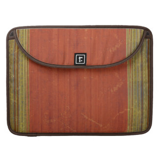 Rusty Red Green Stripes MacBook Pro Laptop Sleeve Sleeves For MacBooks