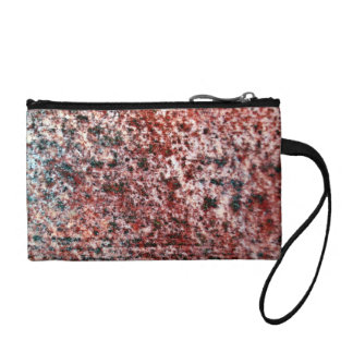 Rusty Red Metal Texture Change Purse