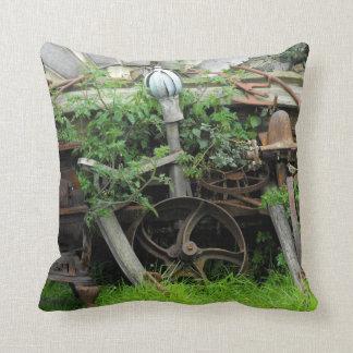 Rusty Relics Throw Pillow