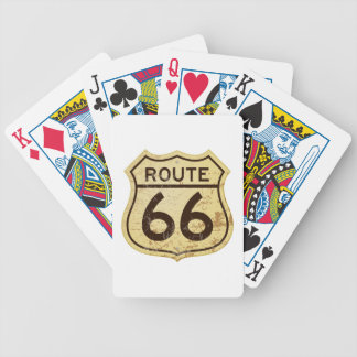 Rusty Route 66 Bicycle Playing Cards