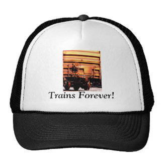"Rusty rr train box car ""TRAINS FOREVER!"" Trucker Hat"