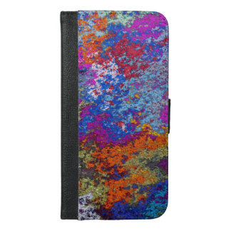 Rusty Rustic Paint Splatter Texture iPhone 6/6s Plus Wallet Case