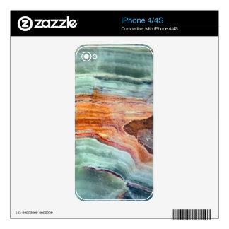 Rusty Sagey Minty Quartz iPhone 4S Skins