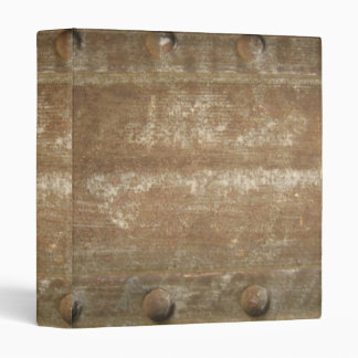 Rusty Scratched Metal, Steampunk 3 Ring Binder