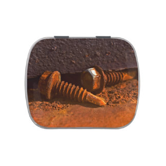Rusty Screws Laid to Rest Jelly Belly Candy Tin