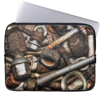 Rusty screws laptop sleeve