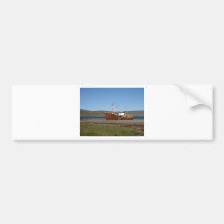 Rusty ship bumper sticker