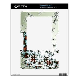 Rusty Spiral, Mandelbrot Fractal - Green Orange Kindle 2 Decal