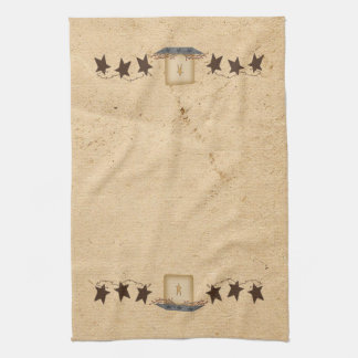 Rusty Stars And Candle Kitchen Towel
