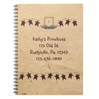 Rusty Stars And Candle Notebook