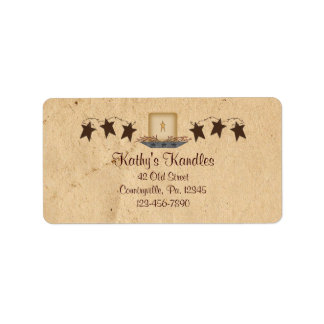 Rusty Stars and Candle Product Label