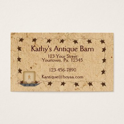 Primitive country candle scents business card zazzle colourmoves Choice Image