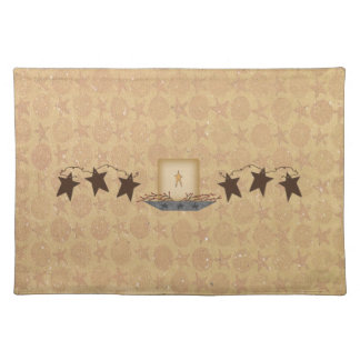 Rusty Stars & Candle Placemat