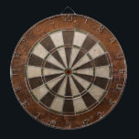 "Rusty Steampunk Dartboard<br><div class=""desc"">Rusted metal texture print dart board.</div>"