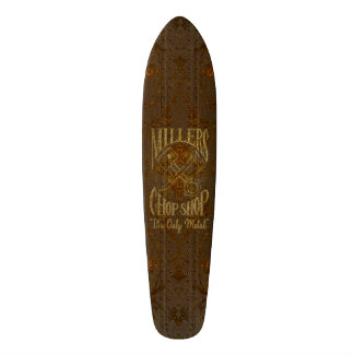 Rusty Steel Logo with Rivets Skateboard Deck