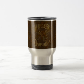 Rusty Steel Logo with Rivets Travel Mug