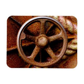 Rusty Submarine Hatch Wheel Vinyl Magnets