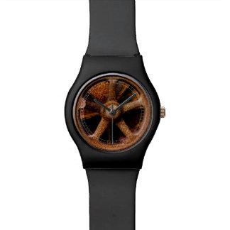 Rusty Submarine Hatch Wheel Wrist Watch